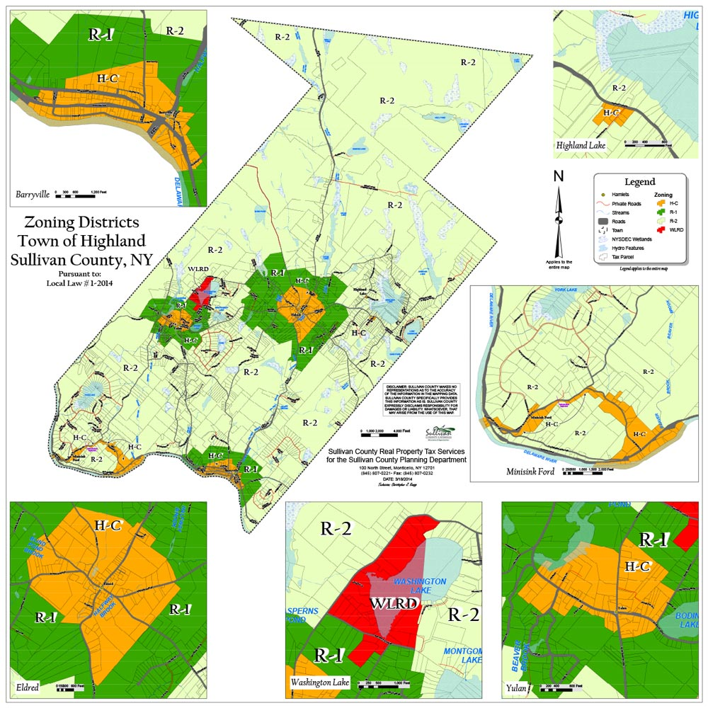 Town of Highland Zoning Map