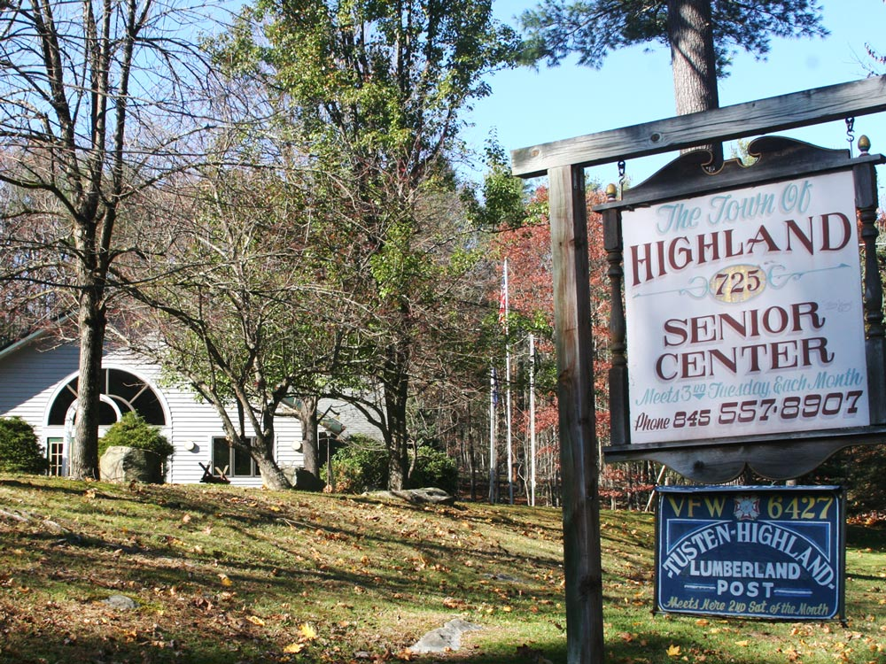 Senior's Center with sign
