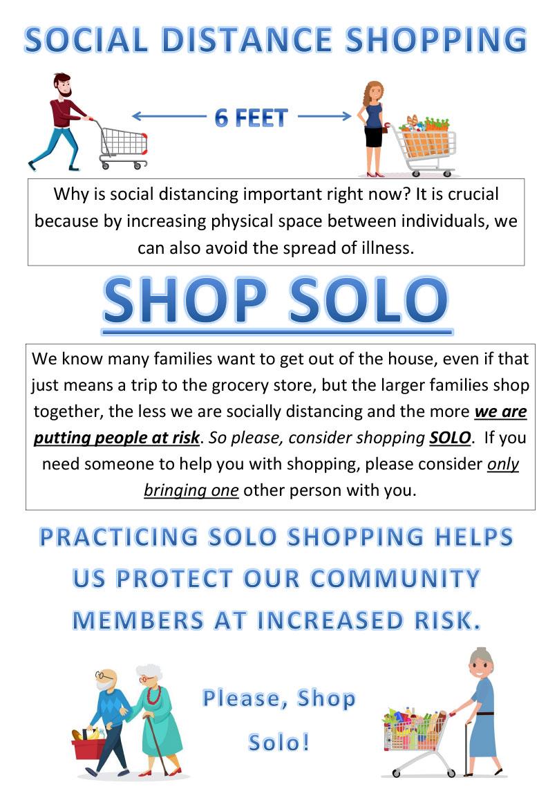 Social distance shopping