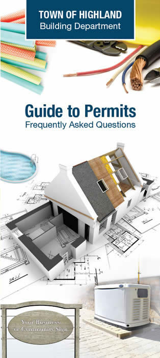 Town of Highland Permit Guide cover