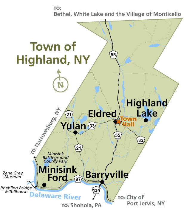 Town of Highland map